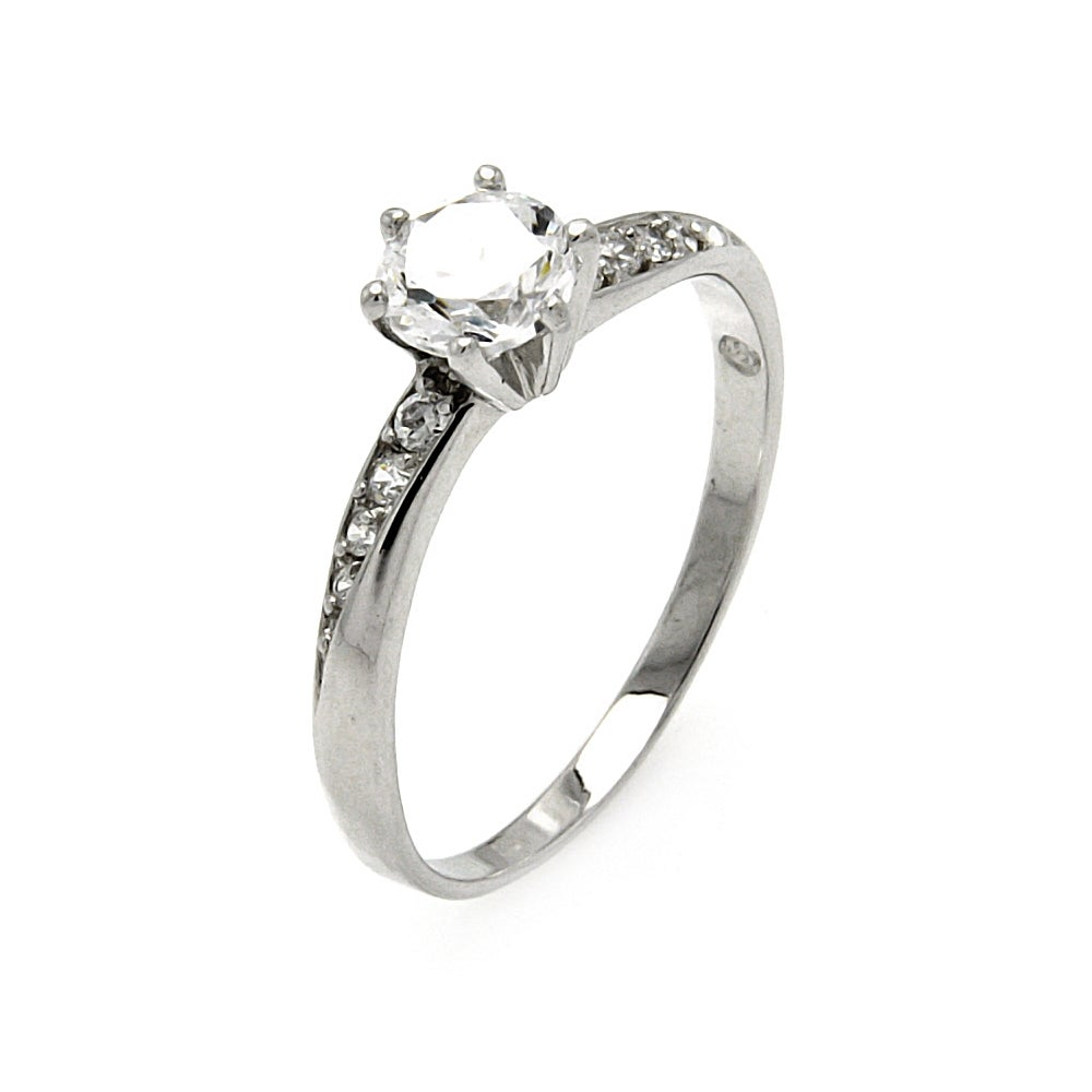 Sparkling Brilliant Cut CZ Engagement Ring | Eve's Addiction®