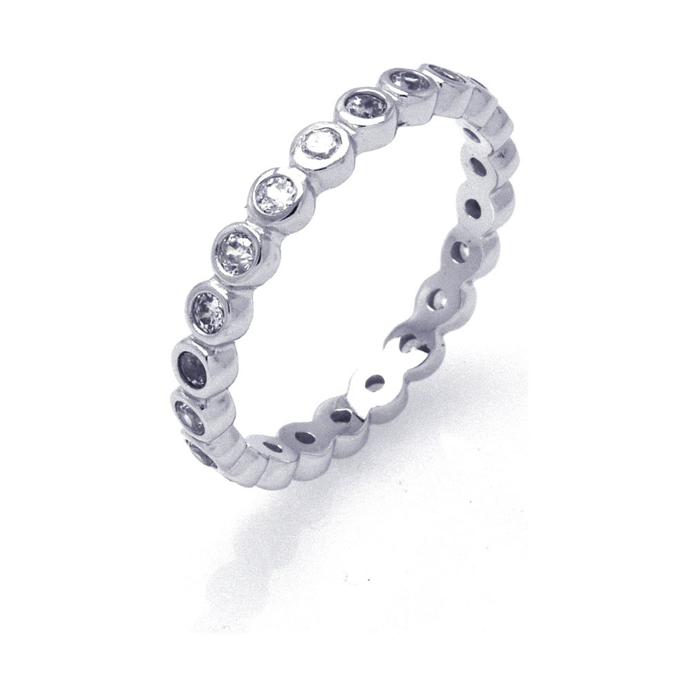 Sparkling Brilliant Cut CZ Stackable Eternity Band | Eve's Addiction®