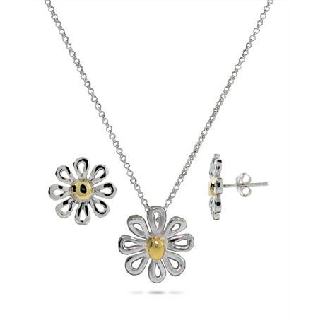 Designer Style Daisy Necklace and Earring Set | Eve's Addiction