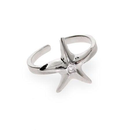 CZ Starfish Toe Ring | Eve's Addiction®