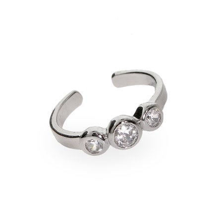 Sterling Silver CZ Bubbles Toe Ring | Eve's Addiction®