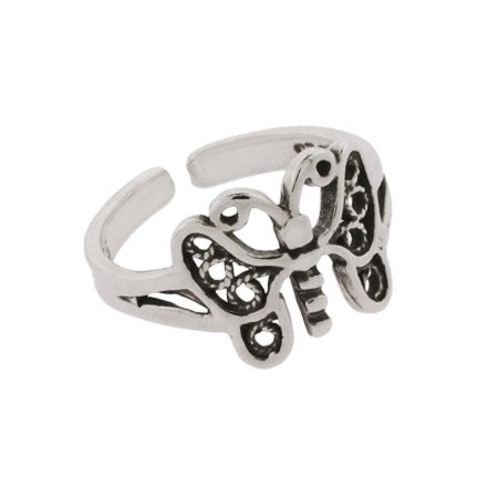 Butterfly Toe Ring in Sterling Silver | Eve's Addiction®