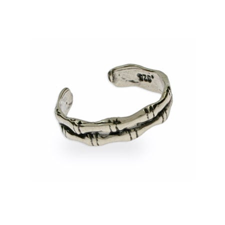 Sterling Silver Bamboo Style Toe Ring | Eve's Addiction®