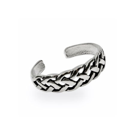Celtic Weave Sterling Silver Toe Ring | Eve's Addiction®