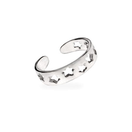 Band of Stars Toe Ring in .925 Sterling Silver | Eve's Addiction®
