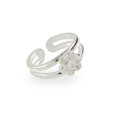 Pretty Sterling Silver Daisy Toe Ring | Eve's Addiction®