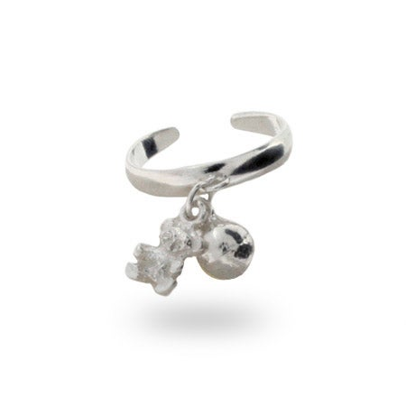 Sterling Silver Bear Charm Toe Ring | Eve's Addiction®