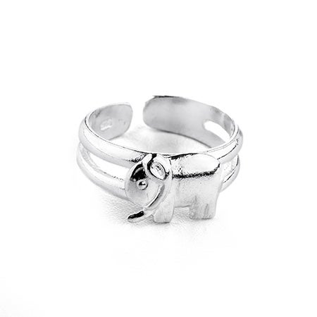 Lucky Elephant Sterling Silver Toe Ring | Eve's Addiction®