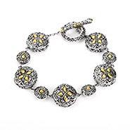 Designer Inspired Renaissance Style Circle Linked Bracelet