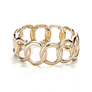 Gold Chain Bangle Bracelet