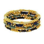 Gold Encrusted Elemental Union Stackable Bangles