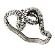 Celebrity Style Serpent Snake Bangle Bracelet with Onyx Eyes