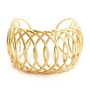 Interlaced Gold Cuff Bracelet