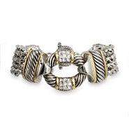 Designer Inspired Multi Strand CZ O Bracelet