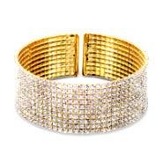 Stunning Gold Cubic Zirconia Bracelet