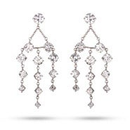 Graduated Brilliant Cut CZ Chandelier Earrings