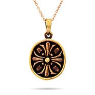 Maltese Cross Bronze Pendant