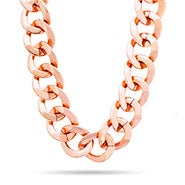 Curb Chain Link Rose Gold Necklace