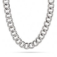 Curb Chain Link Statement Necklace