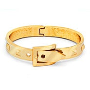 Designer Inspired Gold Studded Belt Buckle Bangle Bracelet
