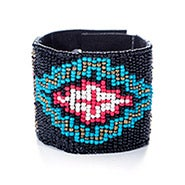 Beaded Bracelet with Cross Design