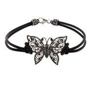 Sterling Silver Marcasite Butterfly Bracelet
