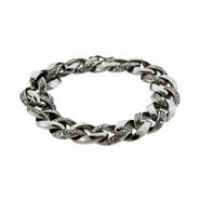 Men's Intricate Bali Interlocking Links Bracelet