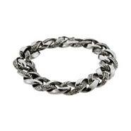 Men's Intricate Bali Interlocking Links Bracelet