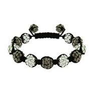 Metallic Studded Bead Shamballa Style Bracelet