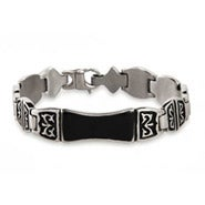 Men's Engravable Tribal Design ID Bracelet