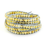 Chen Rai Yellow Turquoise Long Wrap Bracelet