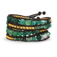 Chen Rai Jade and Gold Wrap Bracelet