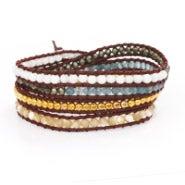 Chen Rai Multi Stone Wrap Bracelet