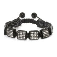 Black Ice Square Cut Shamballa Inspired Bracelet