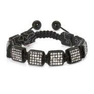 Black Ice Square Cut Shamballa Inspired Bracelet