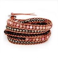 Chen Rai Pink Jasper Stone Wrap Bracelet