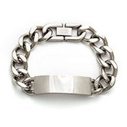 Engravable Ladies Stainless Steel Curb Chain ID Bracelet