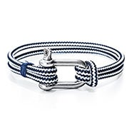 Men's Navy Blue Nautical Rope Shackle Bracelet