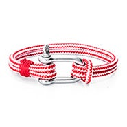 Miguel Chapino Red Nautical Rope Shackle Bracelet