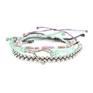 Pura Vida Stackable Bracelet Hawaiian Orchid Pack