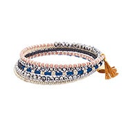 Shashi Jane Wrap Bracelet in Tan