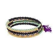 Shashi Jane Wrap Bracelet in Purple