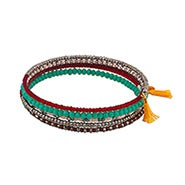 Shashi Jane Wrap Bracelet in Yellow