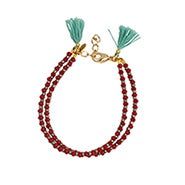 Shashi Barbara Clasp Bracelet in Ruby