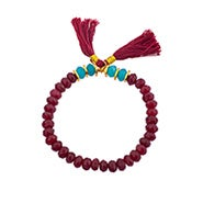 Shashi Joe Stretch Bracelet In Ruby