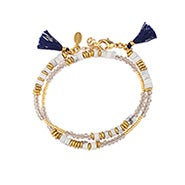 Shashi Farrah Wrap Bracelet / Choker in White