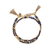 Shashi Farrah Wrap Bracelet / Choker in Lapis