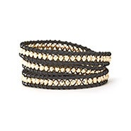 House of Harlow 1960 Karma Wrap Bracelet in Black and Gold