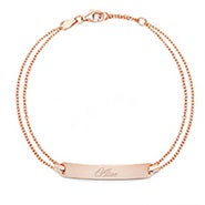 Engravable Name Bar Rose Gold Bracelet