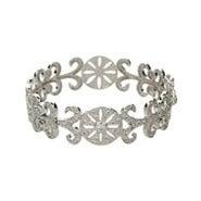 Elegant Deco Style Vintage CZ Bangle Bracelet